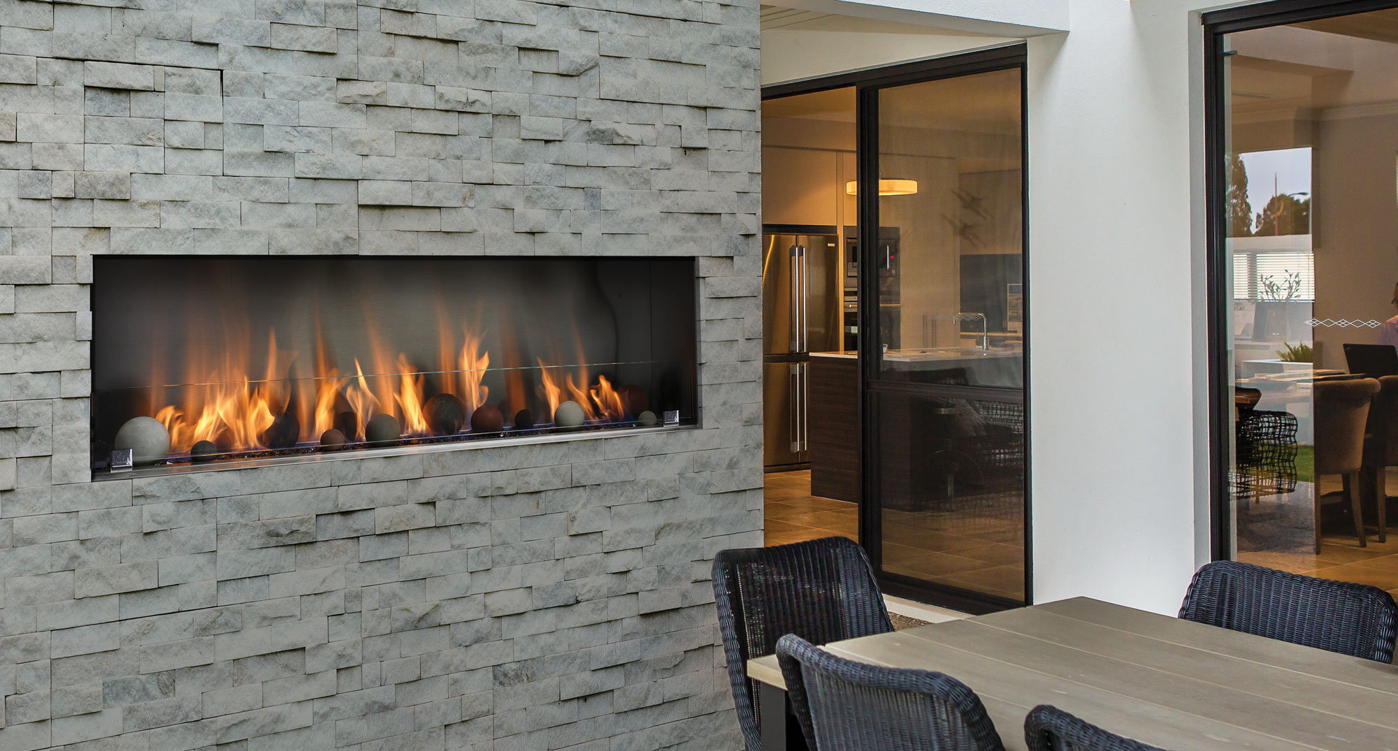 prod gas in built home open contemporary series fireplace linear european natural product h hearth